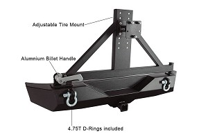 Jeep Rock Crawler Rear HD Bumper w/Tire Carrier (07-18 Wrangler JK)